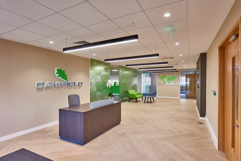 office design reception